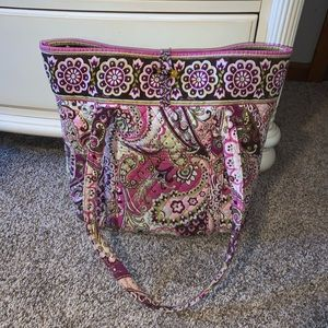 Vera Bradley Toggle Tote in Very Berry Paisley